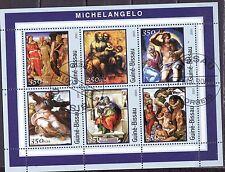 Guinee-Bissau 2001 - Kunst/Art/Gemälde (Michelangelo)