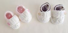 NEW Baby Boy Unisex Newborn Crochet Booties Shoes 100% Handmade brown 0-6-12m