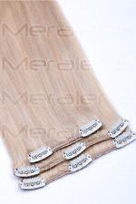 45cm 60cm Clip In Extensions 100%25 Remy Echthaar Haarverlängerung Haarteil Haare
