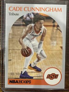 2021-22 Chronicles Draft Cade Cunningham RC Rookie Hoops 1st Pick 90/99!!! 🔥🔥