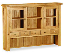 Oakvale Large Hutch / Dresser Top Unit / Glass Doors / Highboard