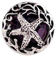 Purple Starfish 20mm Snap Charm Interchangeable Jewelry For Ginger Snaps