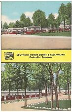 Southern Motor Court and Restaurant in Cookeville TN Postcard