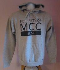 Vintage MENS Hanes propriété de MCC gris USA Sweat à capuche taille S
