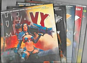 Heavy Metal 2012 Lot January March May 35th Anniversary #259 260 FN+ 1977 Series