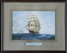 A CLIPPER ON THE OPEN SEAS (according to Denzil Smith)- Framed color engraving