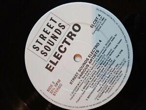 Electro street sounds vinyl record bundle, 4 X 12' vinyl LP, good condition