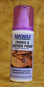 NIKWAX Spray Fabric & Leather Proof Waterproofer For Boots Spray On 125ml