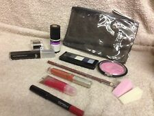 WOW ! NEW,GREAT GIFT MAKE-UP BAG & BUNDLE OF BIG BRAND MAKE-UP 12 ITEMS IN TOTAL