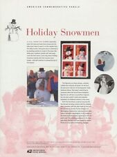 #675 37c Holiday Snowman #3676-3679 USPS Commemorative Stamp Panel