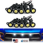 10pcs White Led Grille Running Light For 2014-up Toyota Tundra Wtrd Pro Grill