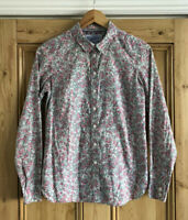 Ladies Joules Superduper Shirting Ditsy Floral Print Button Up Shirt UK Size 8