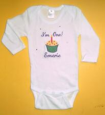Personalized CUPCAKE 1st Birthday Boy or Girl CREEPER One Piece Romper T Shirt