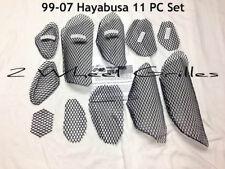 99-07 HAYABUSA GSXR 1300 BLACK FAIRING TAIL & NOSE GRILLS SCREENS VENTS MESH