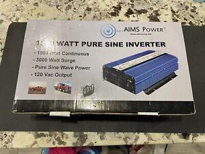AIMS PWRI150024S 1500 Watt Pure Sine Power Inverter 24 Volt