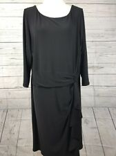 NWT Chaps Women's Casual Black Dress 3/4 Sleeves Size 18w/18