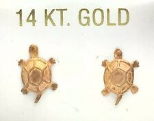 TURTLE  EARRINGS Solid 14K Rose Gold *FREE SHIPPING SERVICE*
