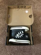 Converse Chuck Taylor All Star High Top Sneakers Leather Black Sz 5 Toddler