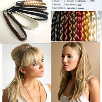 1Pcs Weave Braided Plaited Elastic Hair Band Women Hair Belt Hair Accessories