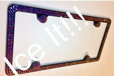Made with SWAROVSKI CRYSTALS VOLCANO license plate frame 6 rows !!!