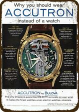 1962 ACCUTRON BULOVA SPACEVIEW Vintage Look Replica METAL SIGN - NOT A WATCH!