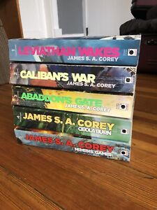 The Expanse Series By James S.A. Corey Books 1-5 Trade Paperback Science Fiction