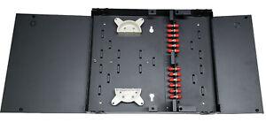 12 Fiber Dual Door Wall Mount w/ 12 ST Adapters, Patch Only Singlemode/Multimode