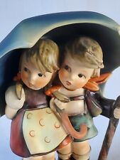 "New ListingHummel Goebel Figurine #71, ""Stormy Weather"" Tmk 3, 6"" Boy Girl Umbrella"