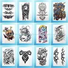 12 sheets/lot extra large arm tattoo Chinese dragon tramp stamp day of the dead