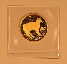1988 Isle Of Man 1/25 Crown gold Manx Cat coin in mint holder 1st Year of issue