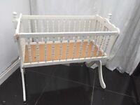 Shabby Chic Baby Cot Swing White  Crib Sleeper Baby Infant Mamas & Papas