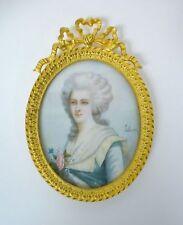 Rare Miniature Auto-Portrait de Madame Lebrun vers 1820 France