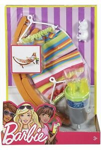 Barbie Hammock And Accessories Playset New Sealed Uk Seller DVX47 🇬🇧