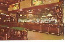 Las Vegas Golden Nugget Gambling Hall Saloon with Nude Paintings Postcard c1950