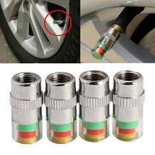 4 Pcs Car Auto Tire Pressure Monitor Valve Stem Cap F44 Indicator Eye Alert ;