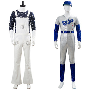 Rocketman Elton John Dodgers Baseball Sequins Jumpsuit Cosplay Costume Outfit