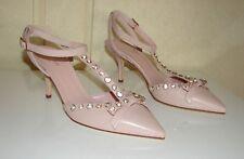 NIB Kate Spade sz 8.5 Julianna petal pink nappa leather rhinestone bow shoes