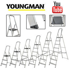 More details for youngman atlas platform step ladders | aluminium steps trade & diy use | en131