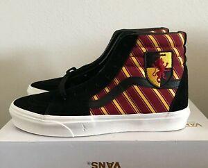 VANS Sk8-Hi Skate Shoes Harry Potter Gryffindor Multi Mens 10.5 Womens 12.0