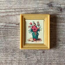 Vintage Sylvanian Families Spares   Village Store Shop Flower Frame Wall Photo