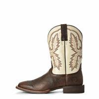 Banquier en cuir brun fait à la main, bottes mexicaines du Texas