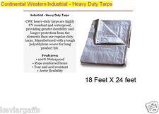 18 X 24 feet Continental Western Industrial - Heavy Duty Tarp