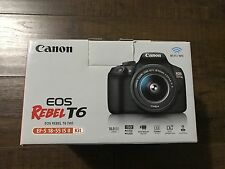 Canon EOS Rebel T6 Digital SLR Camera Kit with EF-S 18-55mm New!!!