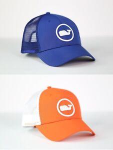 Vineyard Vines Whale Dot Performance Trucker Hat Cap For Unisex One Size