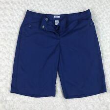 IZOD Women's Perform Golf Tennis Shorts  Sz 6 Blue Bermuda Walking Formal Short