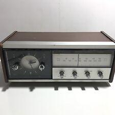 Vintage Sony AM FM Transistor Wood Clock Radio Model 8FC-65W Tested & Working