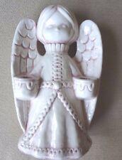 Vintage Pink and Ivory Color Angel Ceramic Candle Holder