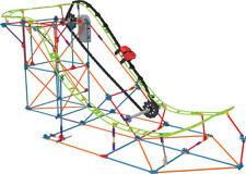 K`nex T-Rex Fury Escape montaña rusa construcción Set con construcción de visor de VR