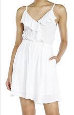 New BCBG Eneration Solid White Summer Dress Spaghetti strap Size S