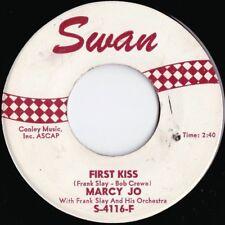 Marcy Jo ORIG US 45 First kiss VG+ '62 Swan S4116F Teen girl Pop Popcorn